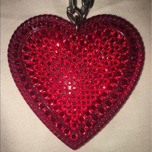 Tarina Tarantino Ruby Pave Heart Necklace.